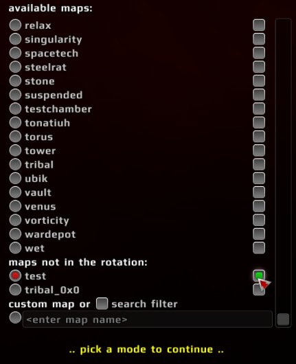 RE map menu